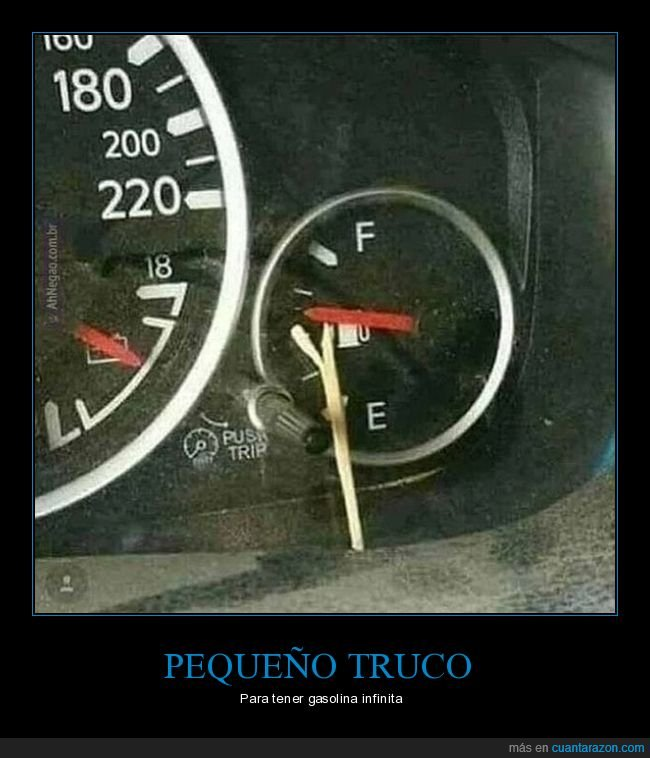 coche,gasolina,truco