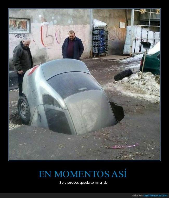 agujero,coche,fails