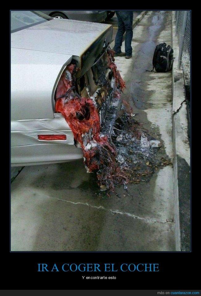 coche,derretidos,fails,faros,incendio