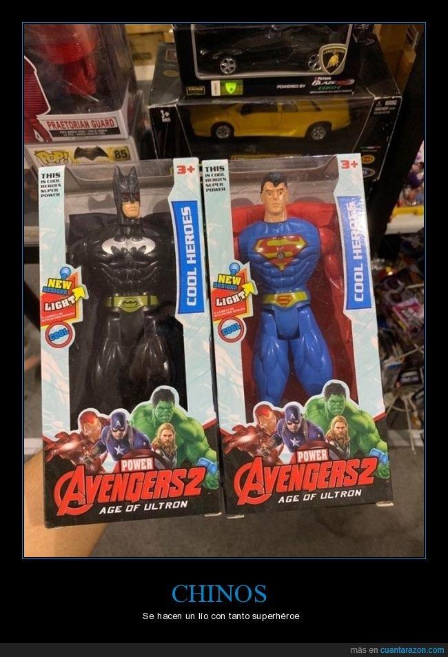 batman,fails,los vengadores,muñecos,superman