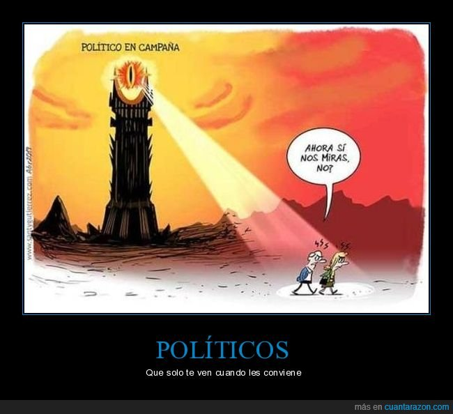 campaña,el señor de los anillos,mirar,políticos,sauron