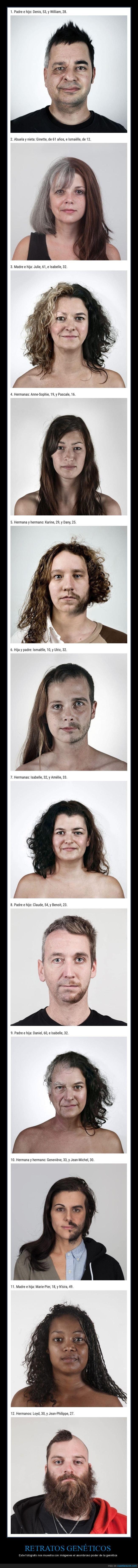 familiares,fotografía,genética,retratos