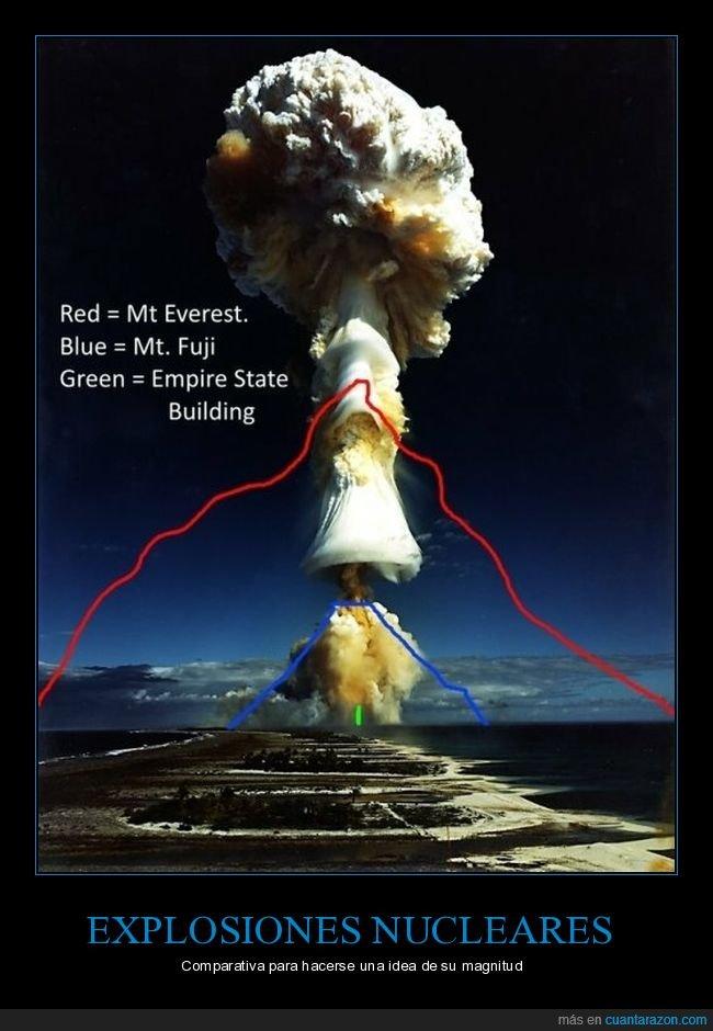 altura,bombas nucleares,curiosidades,explosión nuclear