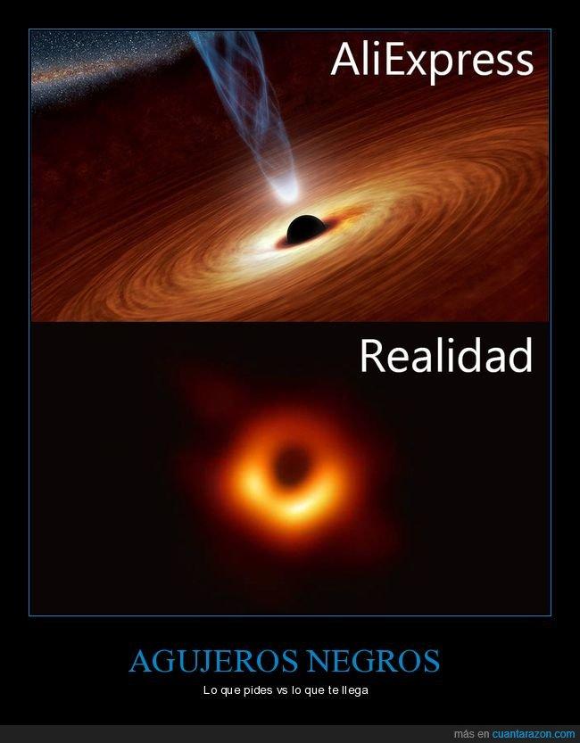 agujero negro,aliexpress,expectativas,realidad