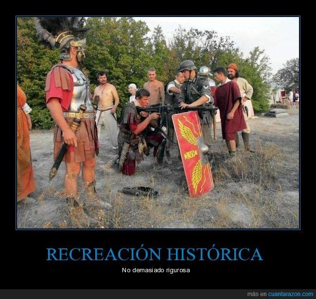 armas,recreación,romanos