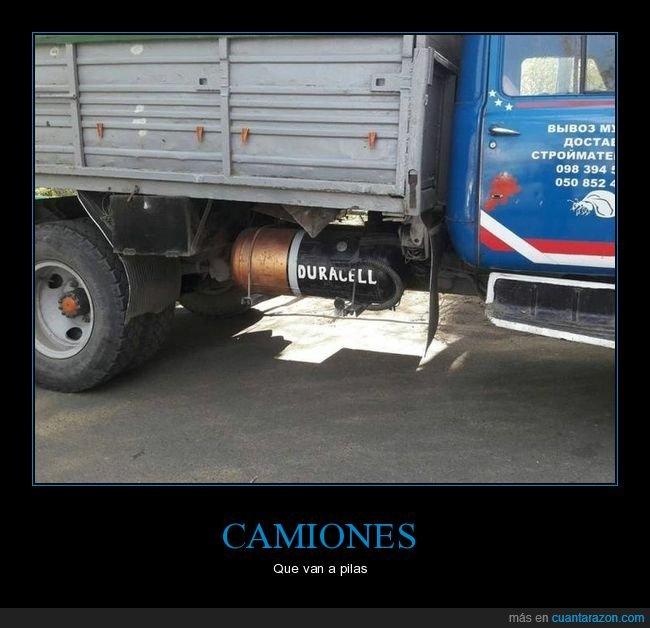 camión,duracell,pila