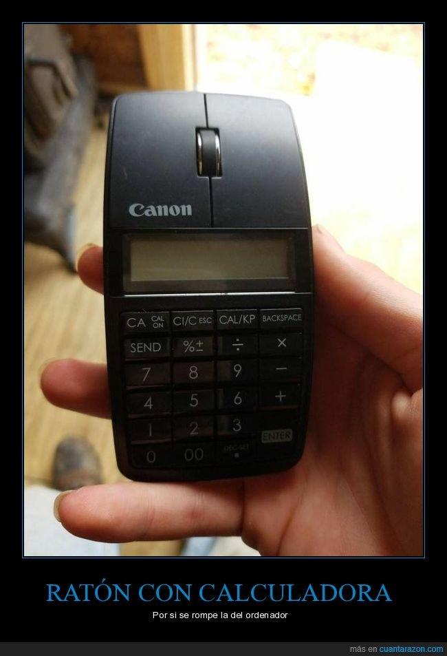 calculadora,ratón,wtf