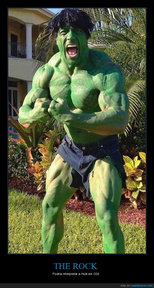 cosplay,hulk,the rock