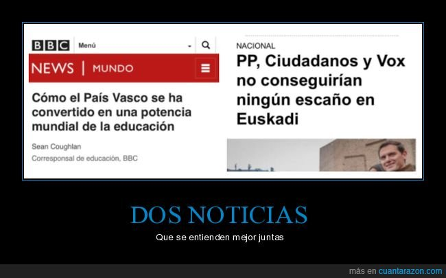 cis,cuidadanos,dos noticias,educación,escaños,país vasco,políticos,pp,vox