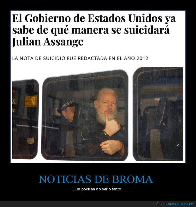eeuu,el mundo today,julian assange,suicidarse