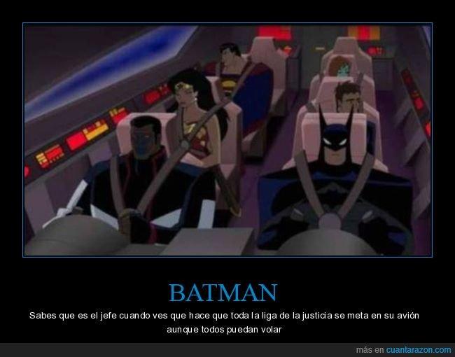 avión,batman,jefe,liga de la justicia,volar