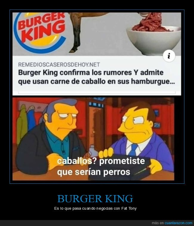 burger king,caballo,carne,haburguesas,simpsons