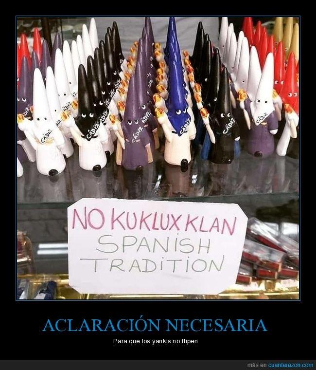 ku klux klan,nazarenos,semana santa,tradición española