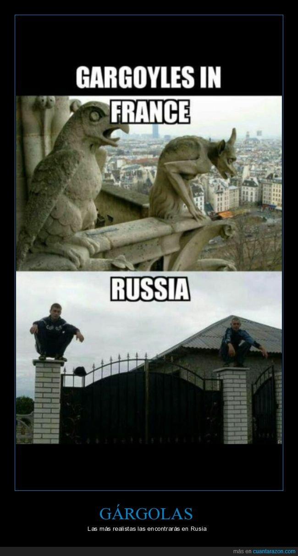 francia,gárgolas,rusia,slav squat