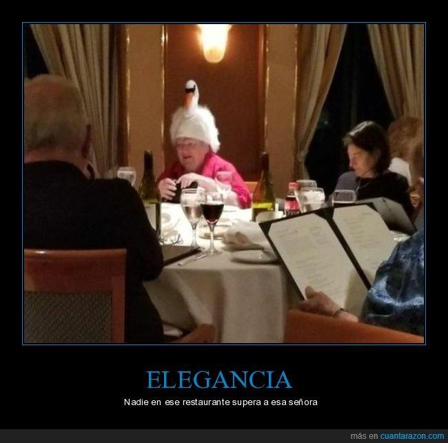 restaurante,señora,sombrero,wtf