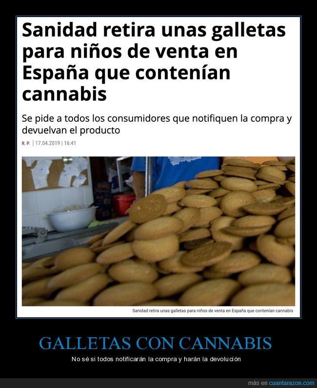 galletas,marihuana,niños