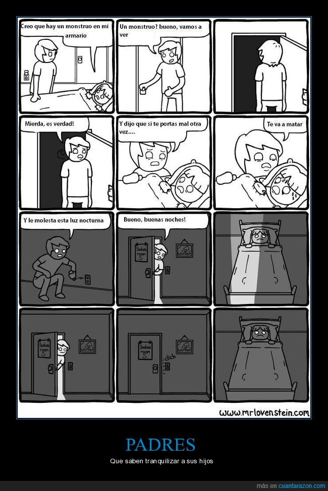 armario,hijo,monstruo,padre