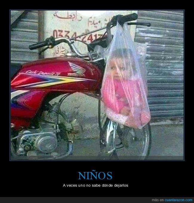 bolsa,moto,niño,wtf