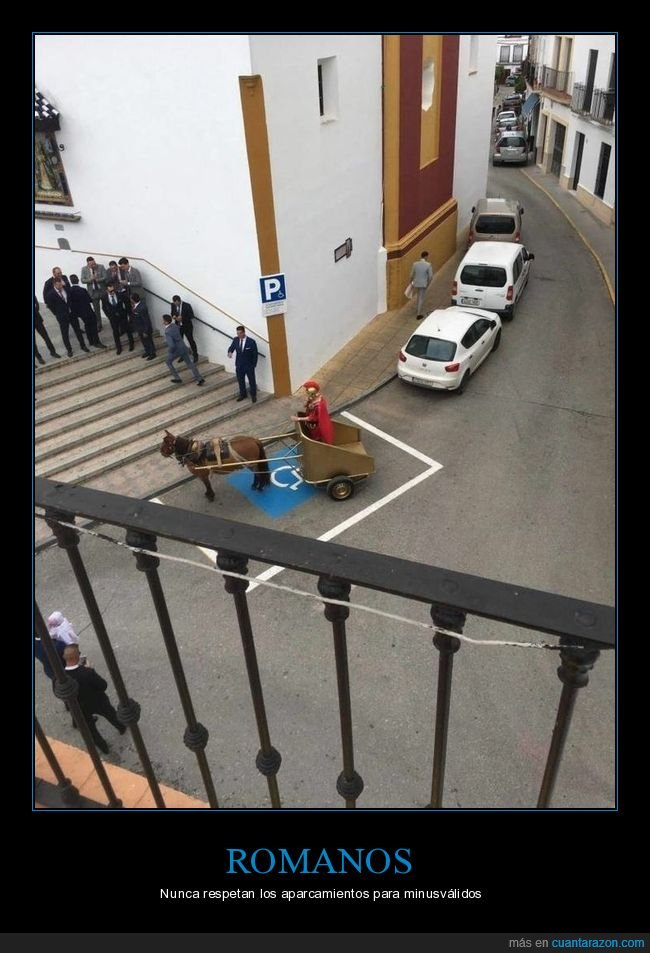 aparcamiento,muinusválidos,romano