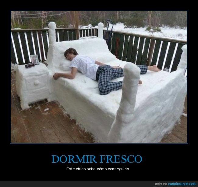 cama,nieve,wtf