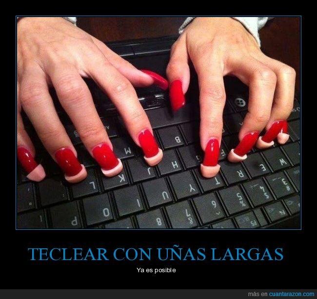 teclado,uñas,wtf