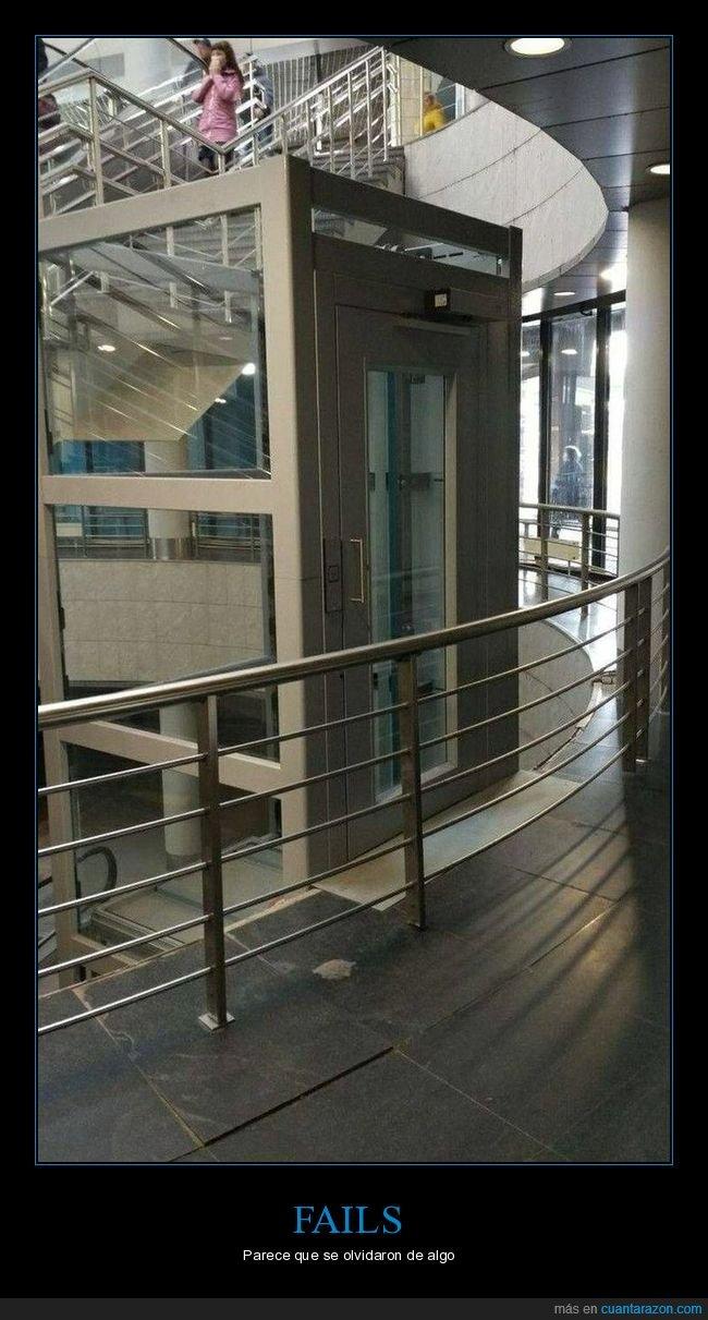 ascensor,barandilla,fails