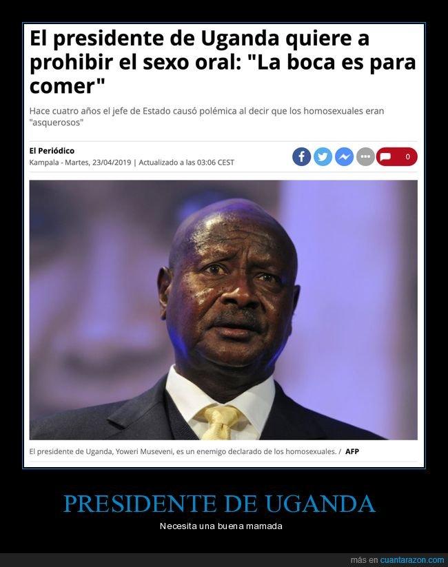 boca,comer,pprohibir,sexo oral,uganda