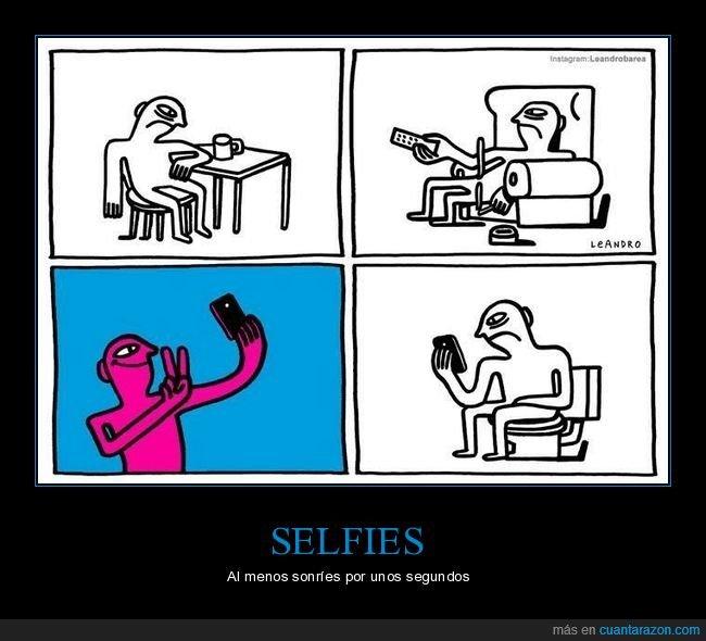 amargado,contento,selfie