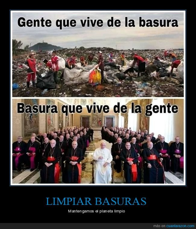 basura,iglesia,vivir