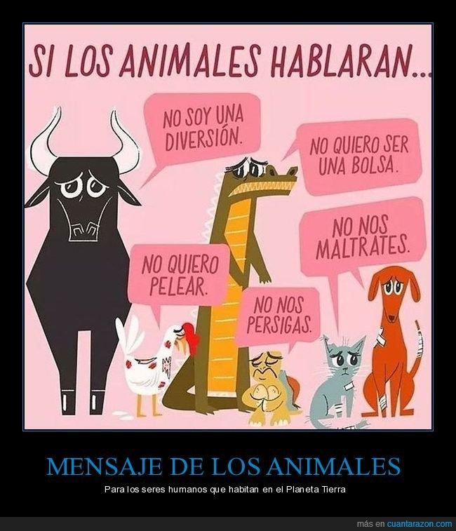 animales,hablar,maltrato