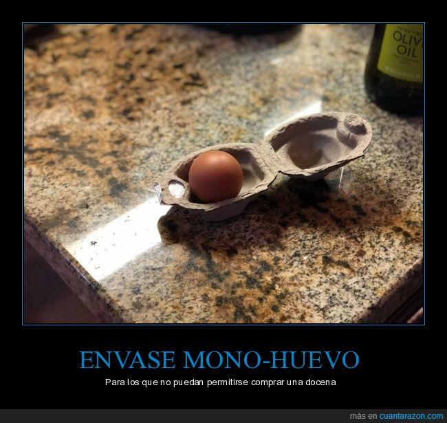 envase,huevos,uno
