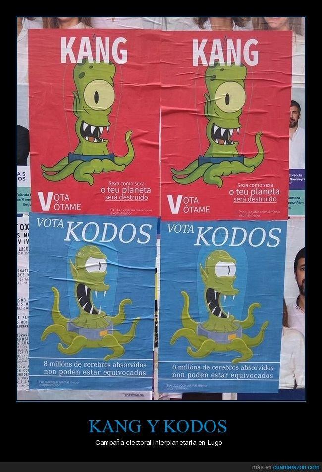 extraterrestres,kang,kodos,simpson