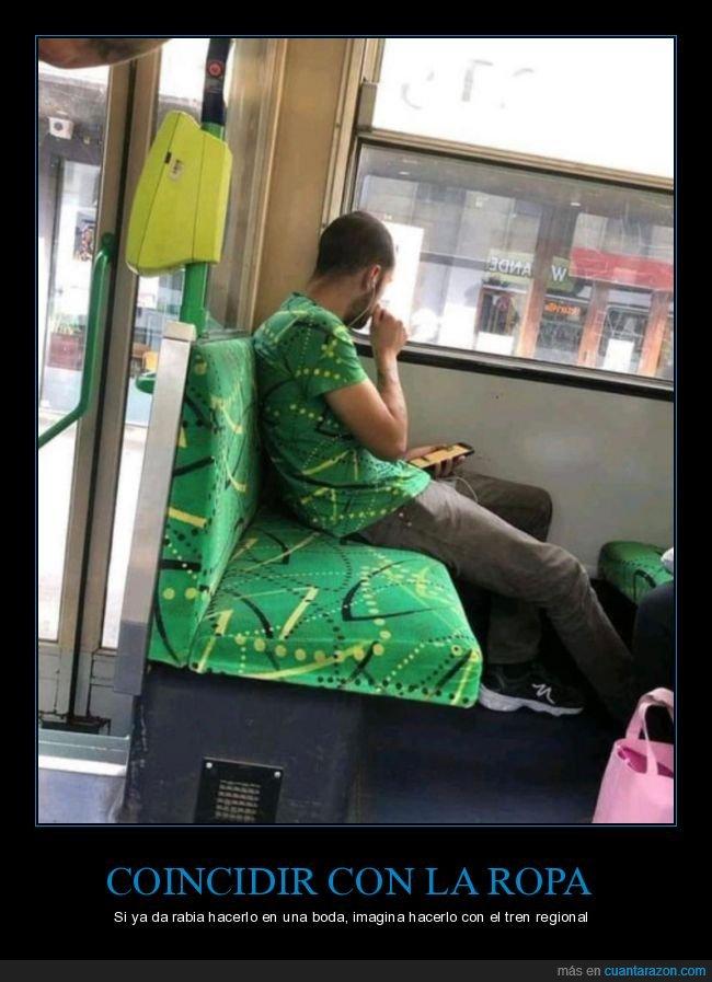 camiseta,coincidir,tapizado,tren