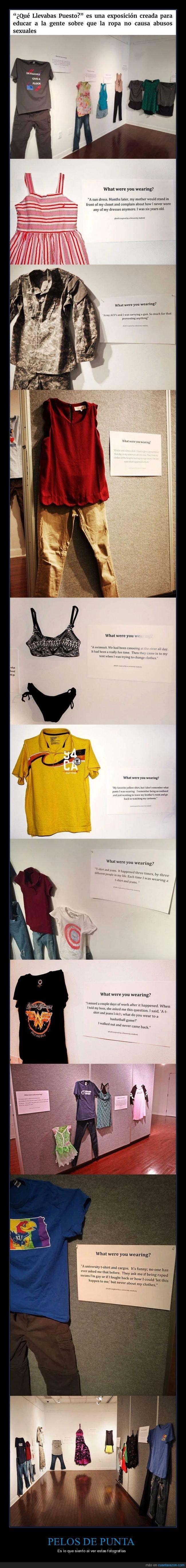 abuso,exposición,museo,ropa