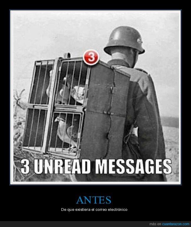 jaula,mensajes,no leído,palomas