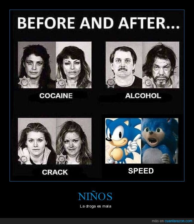 antes y despues,droga,politoxicomanos,sonic