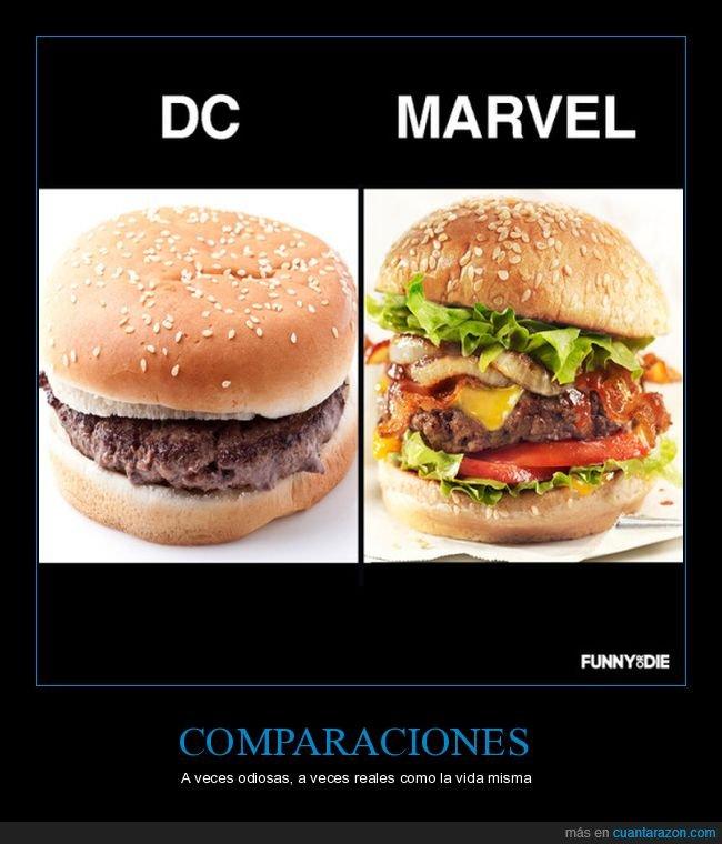cine,comics,dc,friki,hamburguesas,marvel