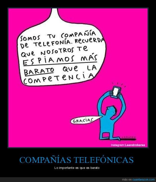 barato,compañía telefónica,competencia,espiar
