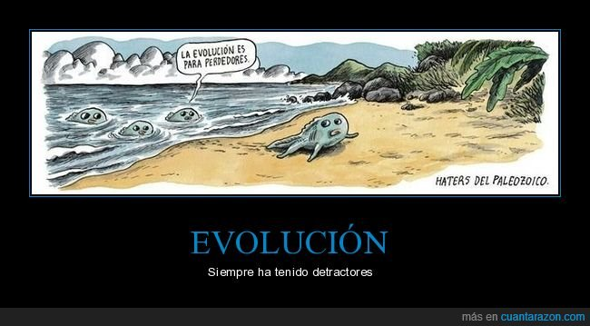 evolución,haters,paleozoico,perdedores,pez