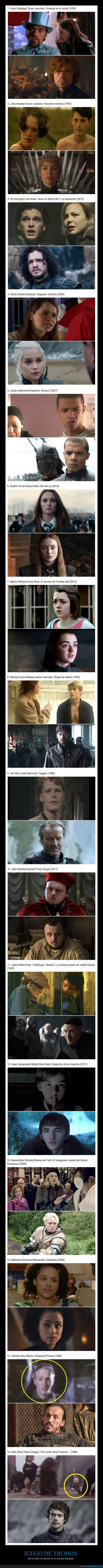 actores,juego de tronos,películas,primera actuación