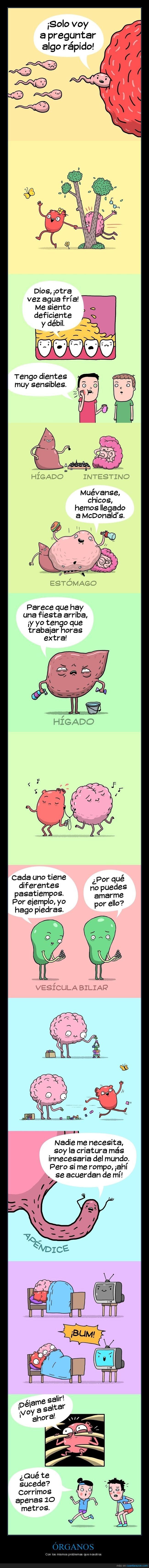 cómics,órganos,problemas