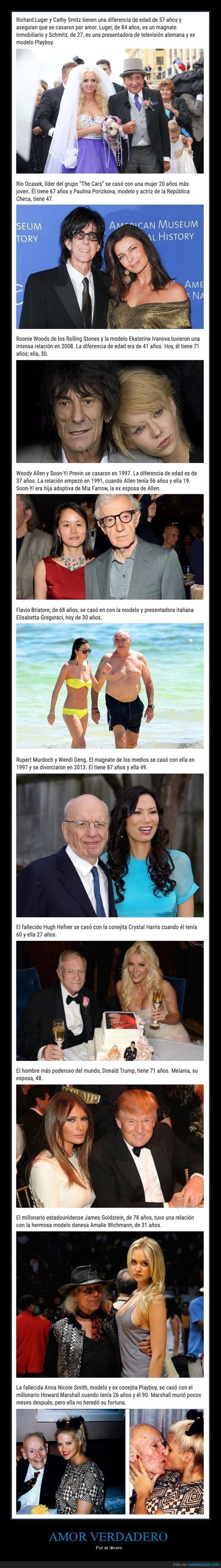 diferencia de edad,millonarios,parejas