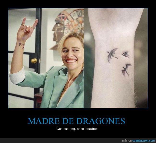 dragones,emilia clarke,juego de tronos,tatuaje