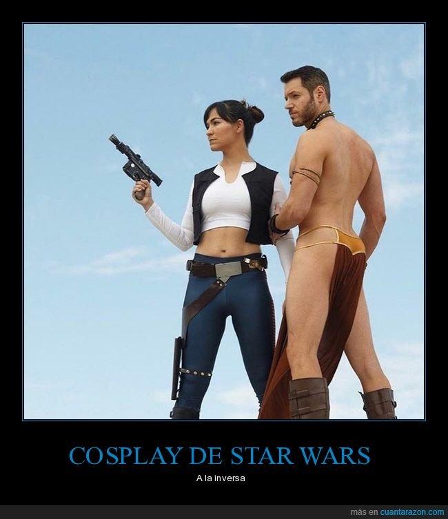 cosplay.han solo,inversa,leia,star wars