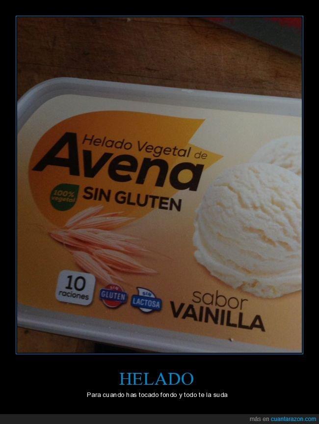 avena,helado,sin gluten,tocar fondo,vegetal