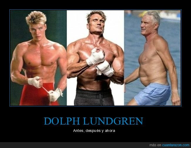 antes,después,dolph lundgren