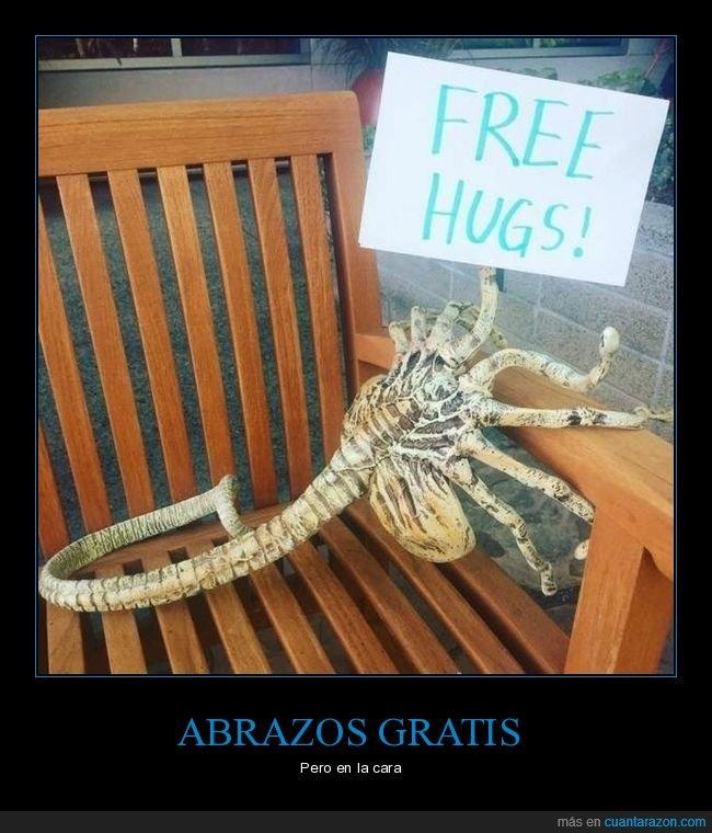 abrazos gratis,alien,facehugger