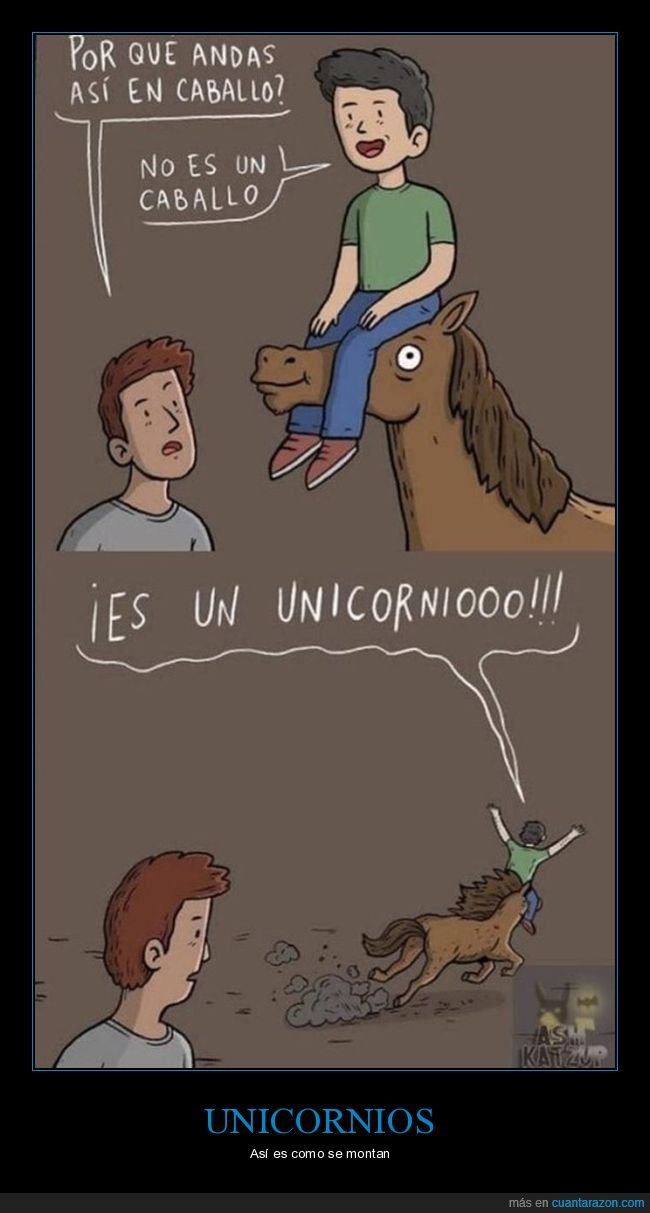 caballo,cuerno,culo,unicornio