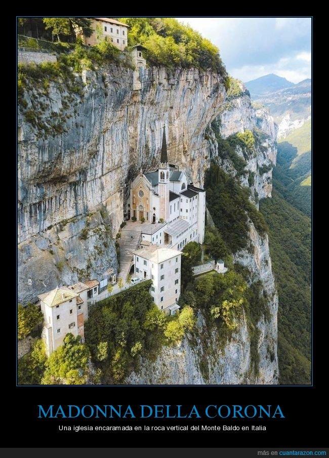 curiosidades,iglesia,italia,monte baldo,roca,santuario madonna della corona,vertical