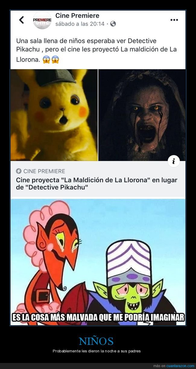 cines,detective pikachu,fails,la maldición de la llorona